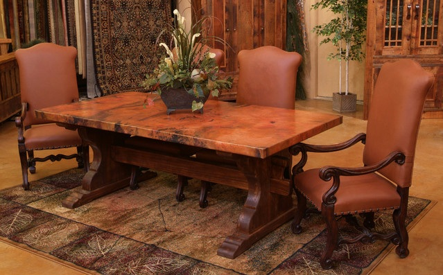 dining room tables farmhouse style with antique leather dining chairs