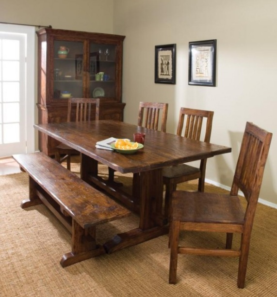 Dining Room Tables Farmhouse Style With Wooden Buffet