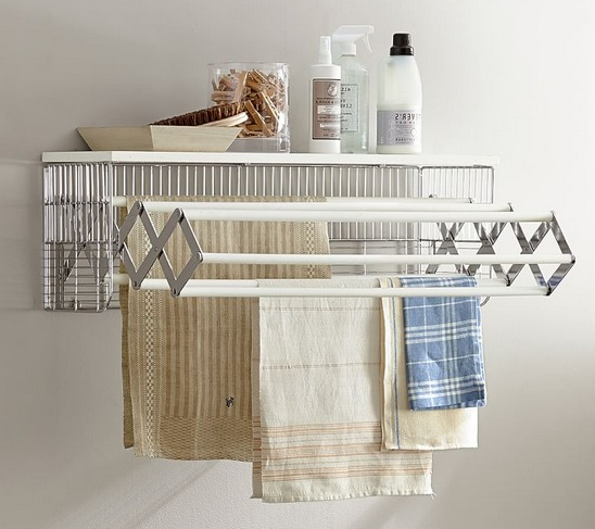 Laundry room decorative accessories with wallmount drying rack ...