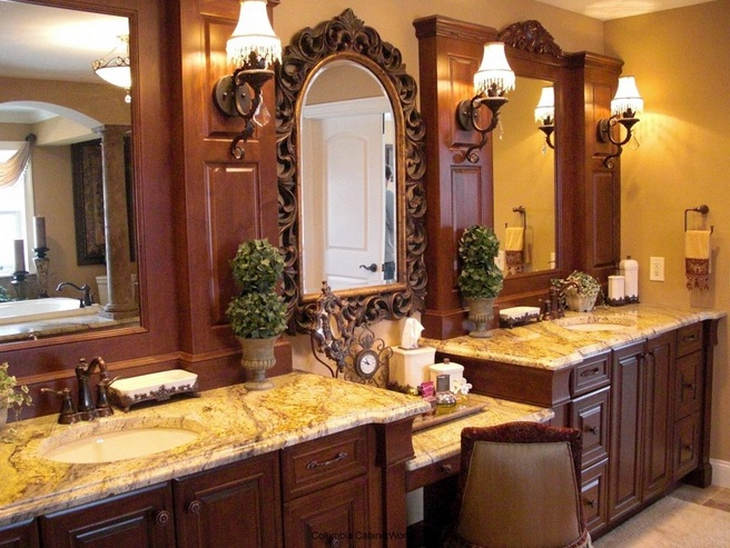 Gold and purple bathroom vanity accessories sets for Purple and gold bathroom ideas