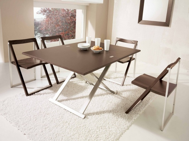 Dining table ideas for small spaces with kitchen island table - Foldable dining tables for small spaces ...