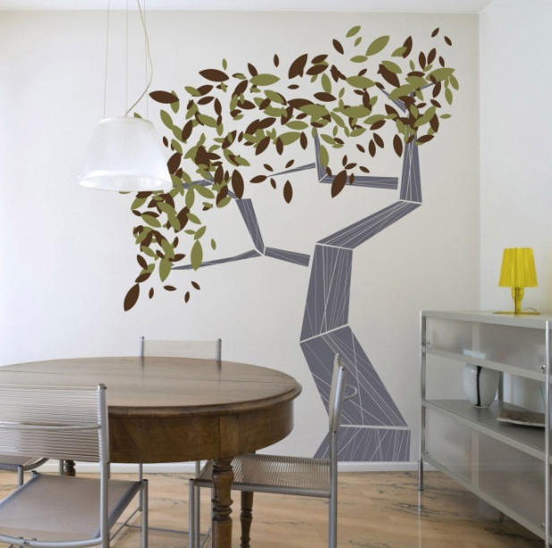 tree wall painting wall art for dining room ideas