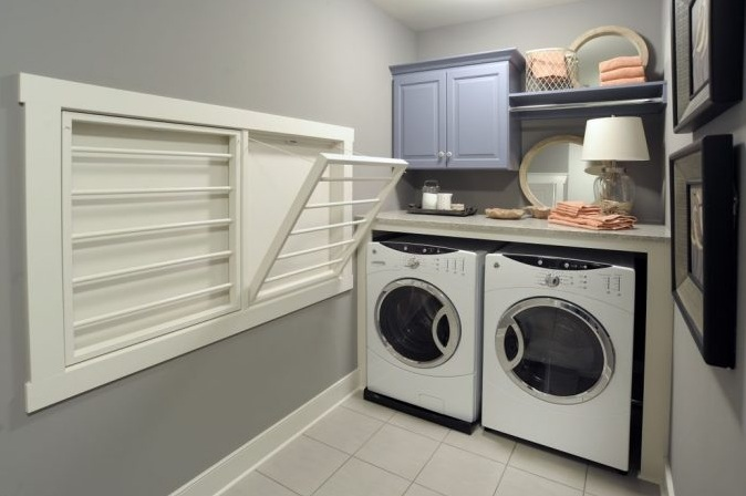 White Wall Mounted Drying Racks For Laundry Room