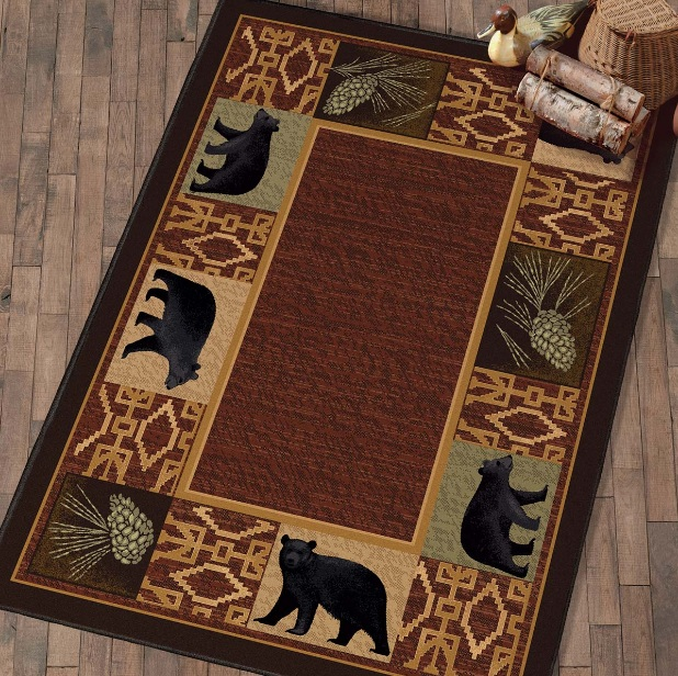 Black bear kitchen decor with black bear rugs - Decolover.net