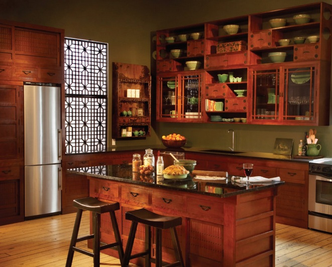 Chinese Kitchen Decor With Wallpaper If You Like Wallpaper, You Can Also  Apply Wallpaper In Your Kitchen. In This Case, You Should Choose Wallpaper  That Has ...