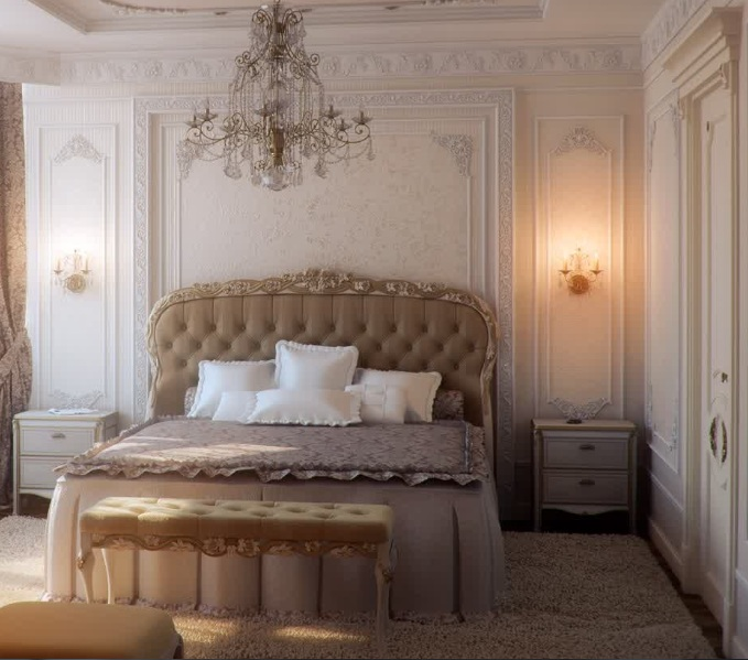 Bedroom Lighting Design Ideas Part - 43: French Bedroom Lighting With Antique Wall Light