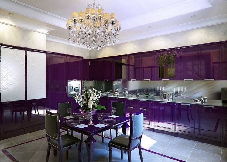 purple kitchen decor with purple kitchen appliances. Black Bedroom Furniture Sets. Home Design Ideas
