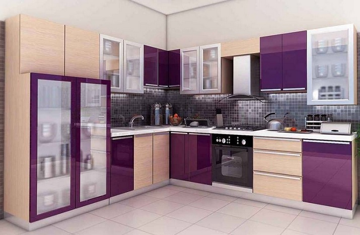 Purple Kitchen Decor With Matching Color Combinations