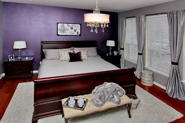 Purple Vintage Bedroom With Cottage Style Decor