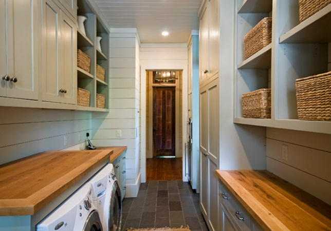 Butcher Block Laundry Room For Durability And Style
