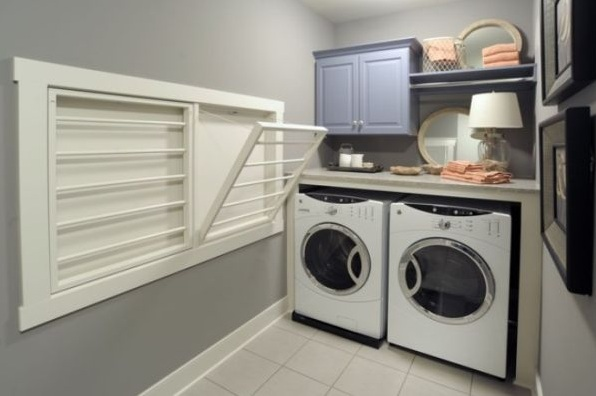 Gray Paint Color For Best Small Laundry Room