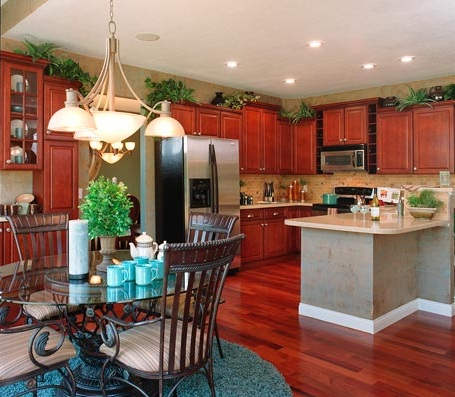 greenery above kitchen cabinets ideas with artificial leaf decorations