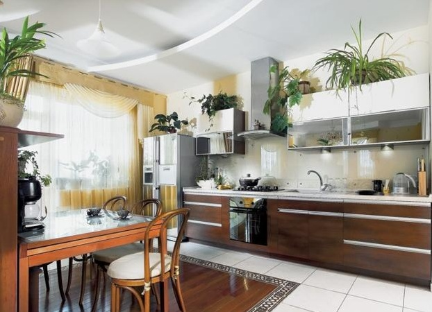 Greenery Above Kitchen Cabinets Ideas With Decorative Plants - Greenery above kitchen cabinets