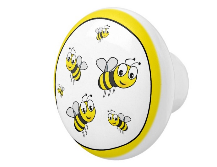 Honey Bee Kitchen Decor With Drawer Knobs