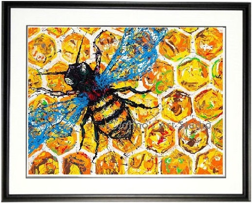 Honey Bee Kitchen Decor With Wall Art Painting