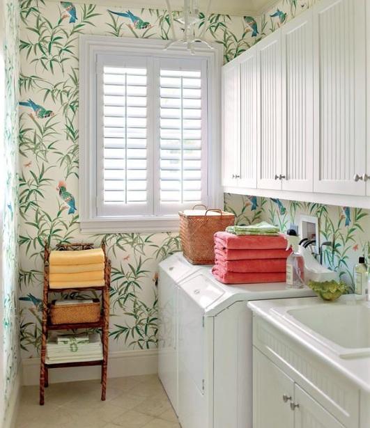 laundry room retro wallpaper - photo #13