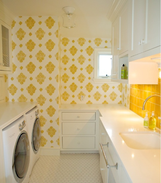 inexpensive laundry room makeovers with floor length