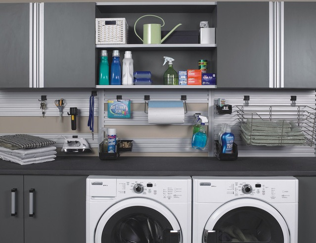 laundry room in garage decorating ideas what to do to make simple but nice one. Black Bedroom Furniture Sets. Home Design Ideas