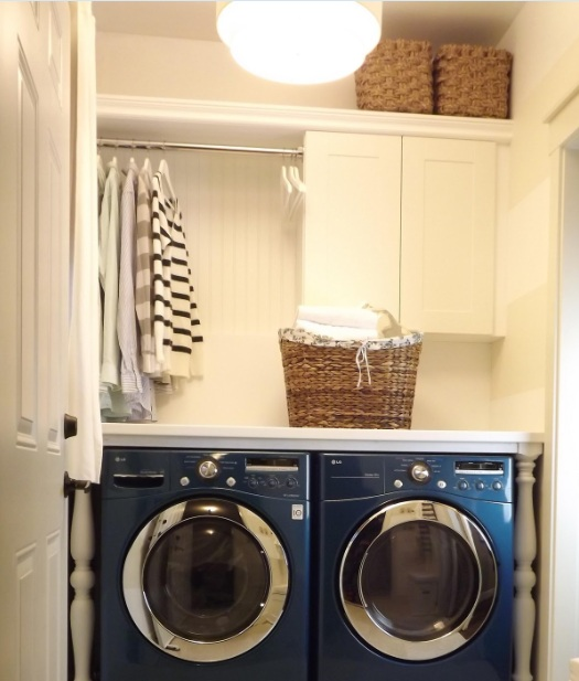 small narrow laundry room ideas with upper cabinets