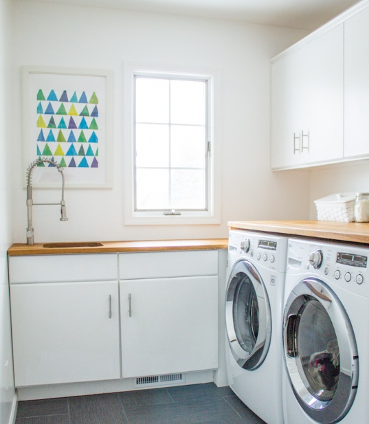 6 best paint color for small laundry room - Laundry room small space ideas paint ...