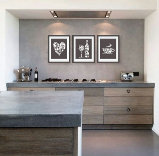 wine themed kitchen decorating ideas with framed wine