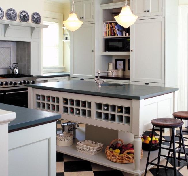 Wine Themed Kitchen Paint Ideas: Wine Themed Kitchen Decorating Ideas With Wine Rack Island