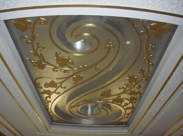 Decorative Metal Trim Molding With Gold Finishing
