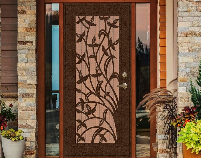 decorative security screen doors. Leaf Vein Decorative Security Screen Doors With Steel Construction And Other Related Images Gallery:
