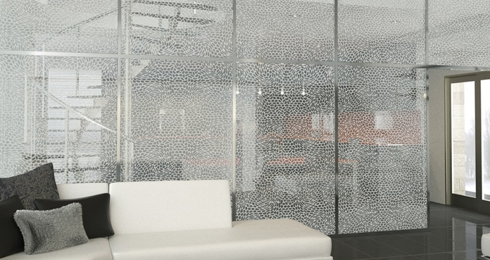 Decorative chic glass panels for room partitions for Decorative window glass types