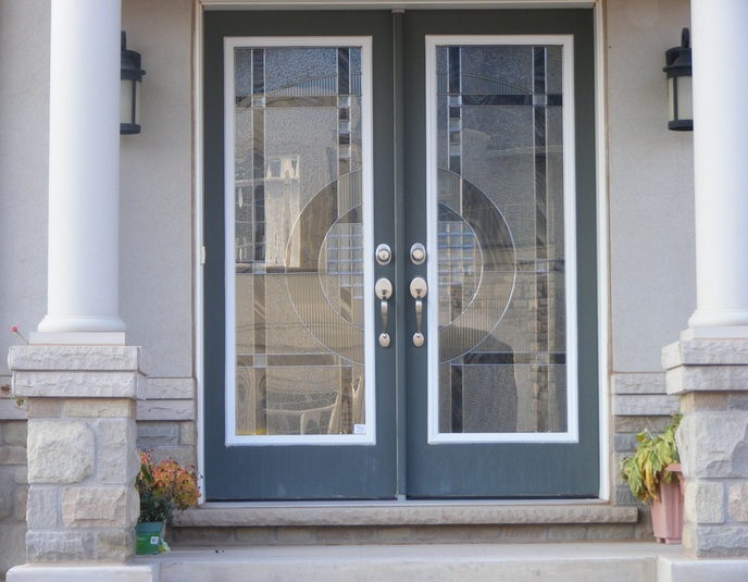 Attractive Decorative Glass Door Inserts For Double Front Doors