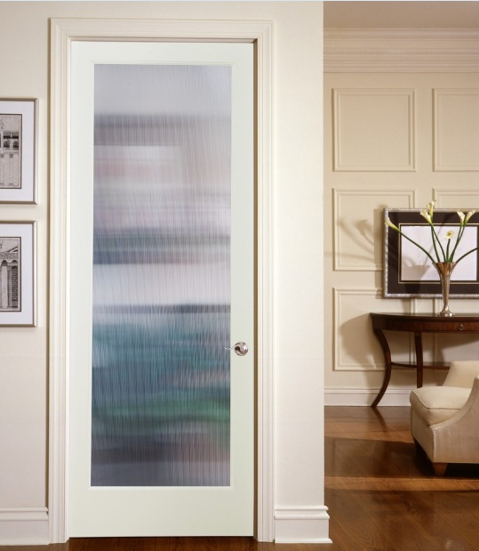 Decorative glass door inserts with narrow reed style for Decorative door glass inserts