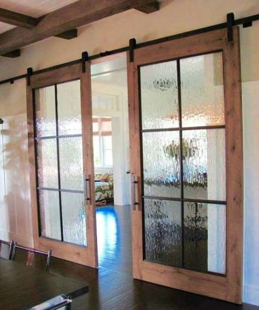 Decorative glass door inserts with bamboo style patterns for Decorative door glass inserts