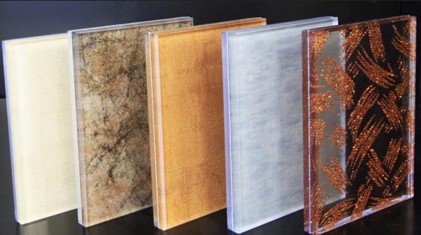 Decorative glitter glass panel options for Decorative window glass types