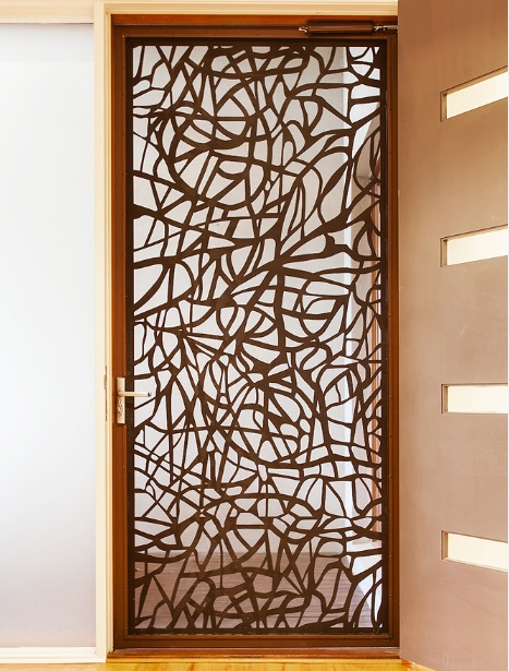 Decorative Security Screen Doors With Neat Finishing