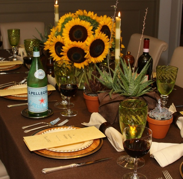 Italian Table Decorations Ideas With Sunflower