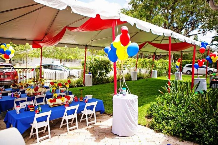 Simple birthday party yard decorations for kids ...