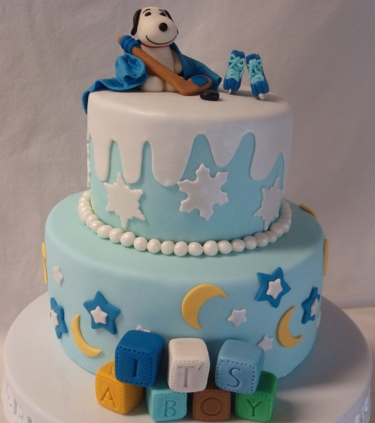 Snoopy Baby Shower Decorations Ideas On Cake