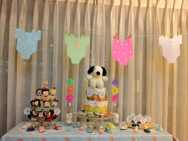 Snoopy Baby Shower Table Decorations Ideas Decolover