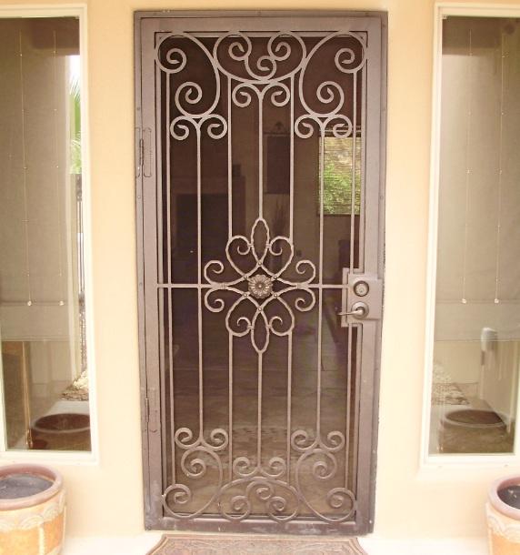 Steel decorative security screen doors - Decolover.net