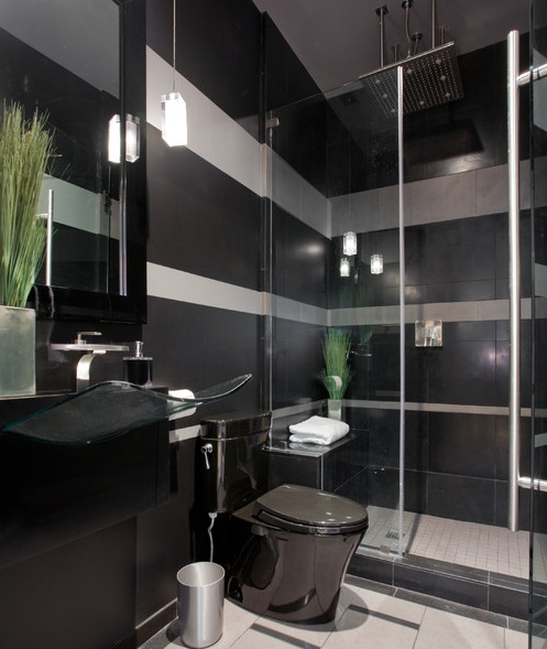 Beau Bathroom Decor With Black Bathroom Accessories
