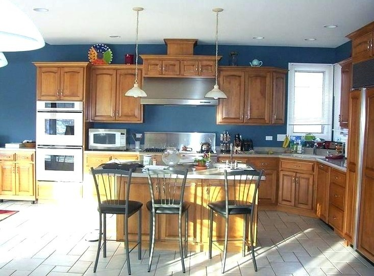 Paint Colors That Go With Oak Cabinets For Kitchen Decolover Net