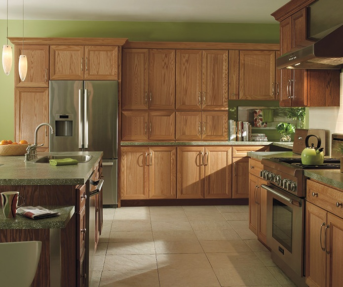 Kitchen Wall Paint With Oak Cabinets