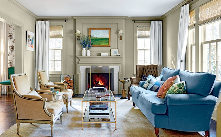 Colonial revival interior paint colors ideas with yellow ...