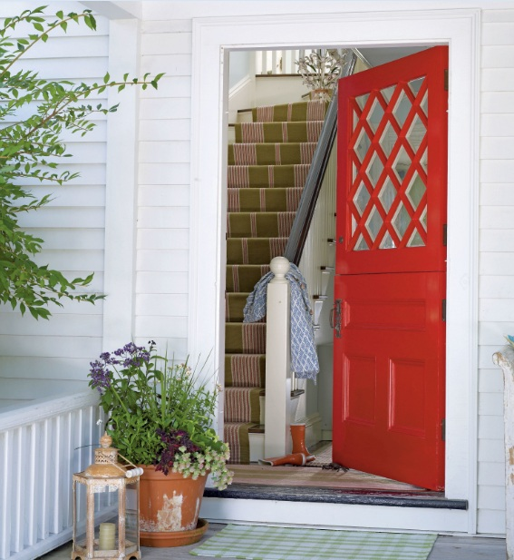 Red Painted Entrance Designs For Small Houses Decolover Net