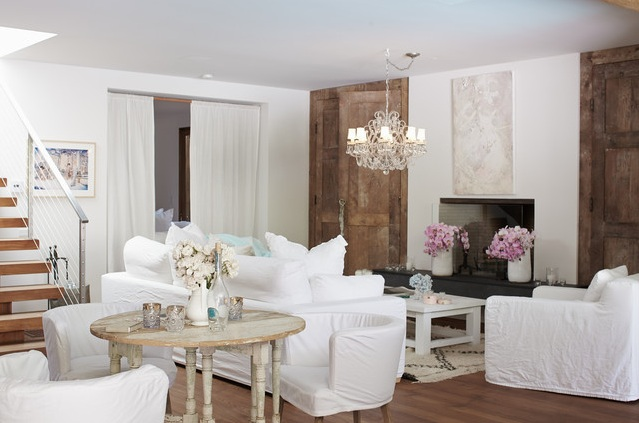 Shabby Chic Living Room Ideas On A Budget With White Chair